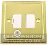 Trimline Plate Polished Brass Fused Spur Switches